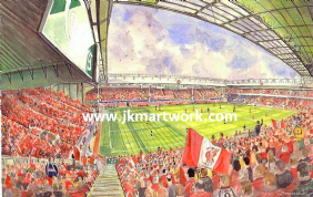 Hand Painted original of ANFIELD